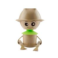 亚摩斯(AMOS)绿色儿童餐具防摔厨具天然稻谷壳人饭盒餐盒婴儿辅食餐具套装 AS-CJ6T