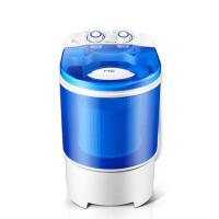 洗衣机小型半自动脱水机婴儿童单筒大容量带甩干宿舍迷你 蓝色