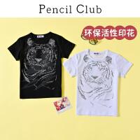 【秒杀价:26】铅笔俱乐部童装2020夏季新款男童短袖T恤中大童印花T恤儿童体恤