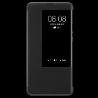华为原装Mate20 Pro/Mate20/X手机壳智能视窗翻盖全包保护套 防摔商务皮套 【Mate20 X 黑色】适