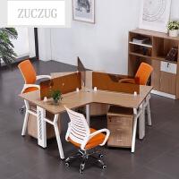 ZUCZUG新款简约现代办公家具组合职员办公桌4人位屏风卡位员工电脑桌椅