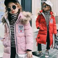儿童羽绒服2017冬季新款童装外套女童羽绒服中长款中大童羽绒服外套潮  SD卡通款