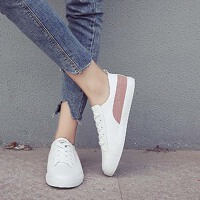 【支持礼品卡支付】夏季帆布鞋2018新款韩版街拍板鞋百搭基础小白鞋女平底休闲鞋 RA-K197
