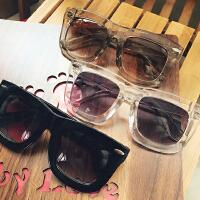 大框方形太阳镜女潮 透明圆脸果冻复古墨镜原宿个性太阳眼镜