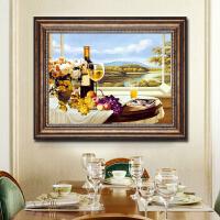欧式餐厅墙面装饰画现代简约饭厅油画家居装饰品创意壁画客厅挂画