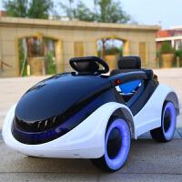 婴儿童电动车四轮可坐遥控汽车1-3-5摇摆童车宝宝玩具车可坐人ABE 标配白 无遥控 无摇摆(预售)