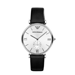 阿玛尼(Emporio Armani)手表皮质表带男士休闲简约时尚石英表时尚腕表男士腕表AR1674