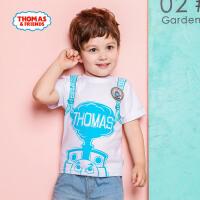 【满600减400】托马斯童装男童夏装2018夏季新品全棉短袖T恤