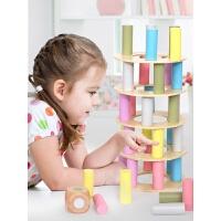 亲子游戏互动3-6釜底抽薪叠叠高堆堆乐叠叠乐积木儿童彩虹塔