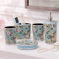 陶瓷卫浴五件套 欧式创意新婚礼品浴室用品套件洗漱套装