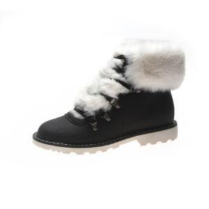 WARORWAR新品YM156-A89冬季欧美平底舒适女士雪地靴