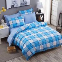 大学生宿舍三件套床上用品四件套1.8m床单人寝室3件套被套1.5被单