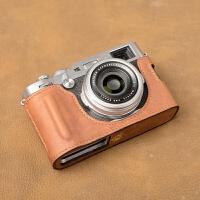 手工纯富士X100F皮套保护套相机包相机皮套手柄底座 X100F开USB款/深棕色 现货