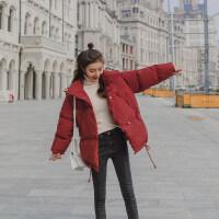 冬季外套女2018冬季新款棉衣短款宽松蓬蓬轻薄时尚女士冬天面包服