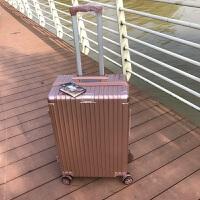 学生密码箱行李箱拉链款女韩版复古直角24寸万向轮小清新拉杆箱22SN3652