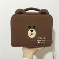 大容量韩国可爱化妆包大号多功能收纳包洗漱包小号妈咪包便携手提