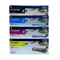 原装兄弟 Brother 281系列 TN-281BK黑色 TN-285C青色 TN-285M品红色 TN-285Y黄