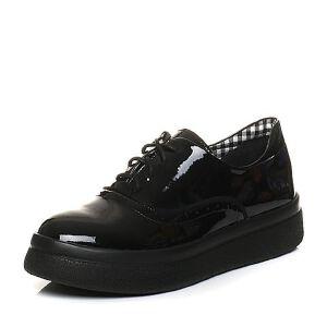 Teenmix/天美意2018春专柜同款漆皮英伦风系带鞋女单鞋CCF20AM8