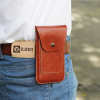 oppo vivo单手机腰包6/6.3/6.5寸男士穿皮带腰包 超薄竖款 挂腰套 大号 黑色