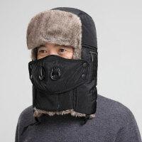 冬季老人保暖帽子男士户外护耳帽爸爸加厚东北棉帽中老年人帽xx M(56-58cm)