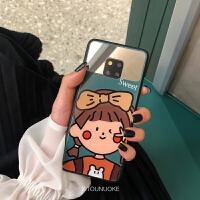 20190610124455973ins可爱绿色甜蜜女孩p30华为mate20pro手机壳p20华为mate20x玻璃