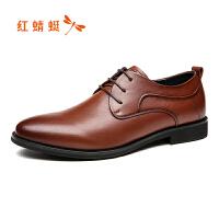 红蜻蜓男鞋春季新款真皮商务休闲鞋子男低帮绅士皮鞋男鞋断码清仓