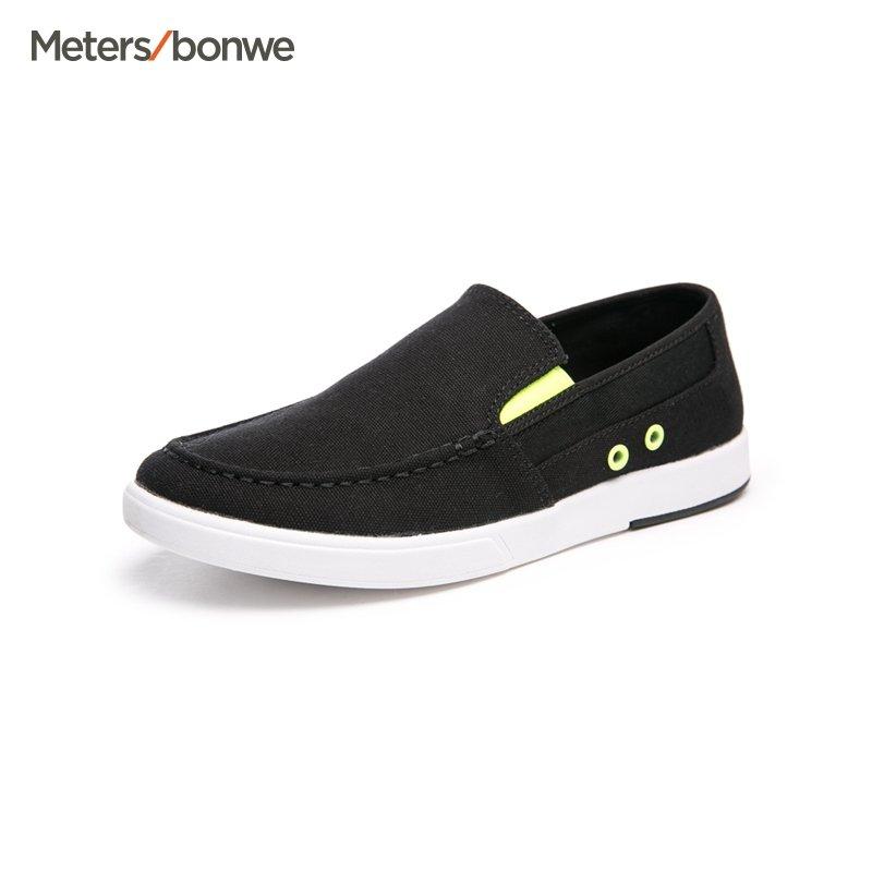 【每满99减60】男鞋新款帆布鞋男一脚蹬男鞋懒人帆布鞋休闲鞋平底男 S