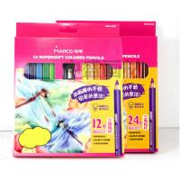 填色彩铅 马可1650-24色油性彩铅笔送笔刨12色油画棒效果彩铅绘画三角粗杆2款可选择