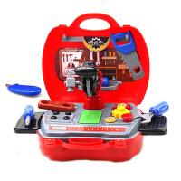 儿童过家家工具箱玩具套装维修理收纳箱北美玩具岁男孩男宝宝