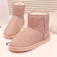 冬季新款雪地靴女短筒防水短靴女鞋韩版百搭学生加绒加厚棉鞋