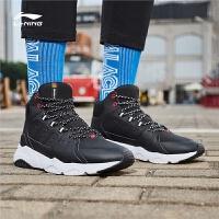李宁休闲鞋男鞋冬季高帮保暖舒适运动时尚系列潮运动鞋男款AGCN125