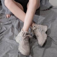 马丁靴 女士圆头加绒保暖平底棉鞋子2019冬季韩版女式学生加厚显瘦短筒靴子