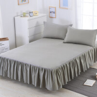 纯棉床罩 床裙式单件席梦思保护套1.5/1.8/2.0m米床单床套防滑