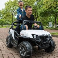 ?儿童电动车四驱四轮大越野可坐人玩具童车婴儿宝宝小孩子遥控汽车
