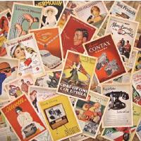复古怀旧80后动漫经典珍藏版欧洲风情建筑电影海报明信片卡片盒装