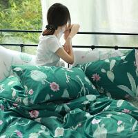 仙人掌绿色田园风女生四件套 床上用品床单被套