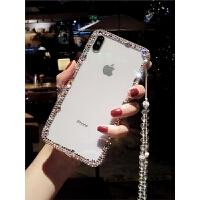 新款苹果钻石手机壳女款6s奢华水钻边框壳8x网红xsmax日韩XR