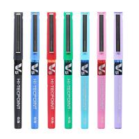 日本pilot百乐BX-V5 v7中性笔针管型直液式签字笔走珠笔0.5mm黑红蓝学生用签字碳素考试水性笔进口文具
