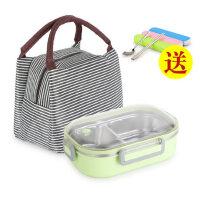 304不锈钢保温饭盒便当盒学生带盖分格儿童餐盒便携上班族