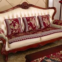 欧式色织提花沙发垫 硅胶防滑沙发坐垫 沙发巾套装