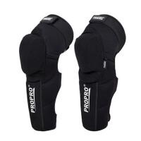 骑行保暖防摔护腿装备摩托车护膝越野骑士机车护具 黑色