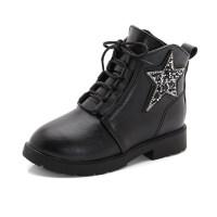 女童靴子2018球冬季新款棉靴小公主�H子靴�n版�R丁靴�和�鞋冬短靴