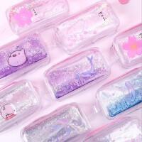 入油闪粉大笔袋可爱卡通化妆包创意少女流沙大容量收纳化妆包