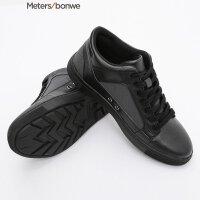 美特斯邦威板鞋男新款高帮系带小白鞋潮202302商场同款女 S