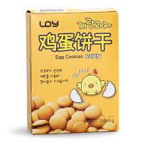 韩国进口 啵啵贝贝 原味鸡蛋酥性饼干休闲 趣味零食 营养饼干50g