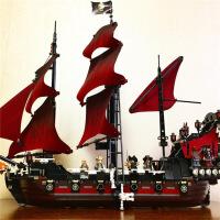 ?兼容乐高加勒比海盗船黑珍珠安妮女王玛丽号 瓶中船 拼装积木