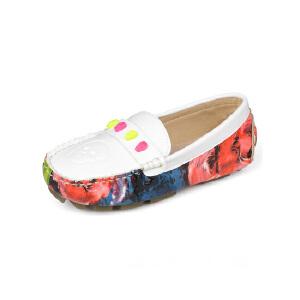 比比我新品新款品童鞋2017春新款女童豆豆鞋女