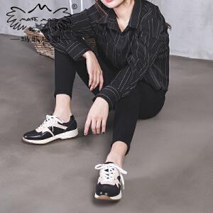 玛菲玛图复古运动鞋女2018新款女鞋ins超火的鞋子春季单鞋厚底跑步老爹鞋515-6