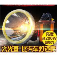 夜钓骑行头戴狩猎手电筒led头灯强光充电式超亮打猎氙气灯防水远射3000