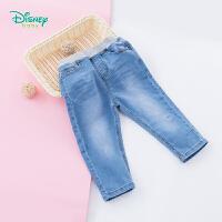 迪士尼Disney童装男童牛仔裤春秋新款弹力宝宝休闲裤外出宽松长裤子 191K817